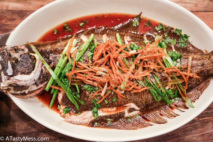 Asian Steamed Whole Fish via ATastyMess.com