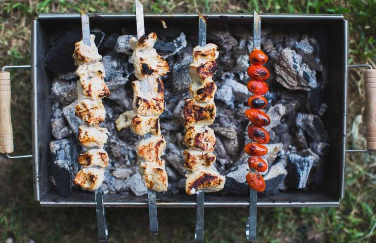 6 Ingredient Grilled Chicken Kebabs